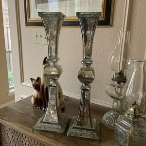 Z Gallerie  -2 Tall Vendome Pillar Candle Holders